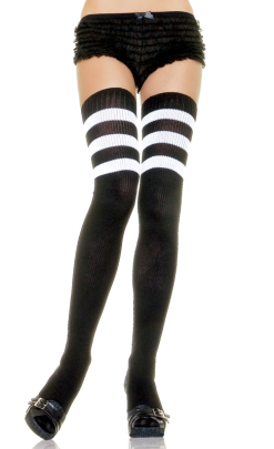 LA6605 Leg Avenue Athlete Nylon Thigh High